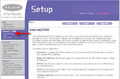 Setting a Belkin router to PPPoE for VoIP.