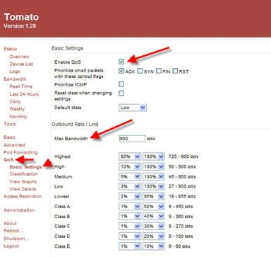 Tomato QoS settings can make VoIP connections better.