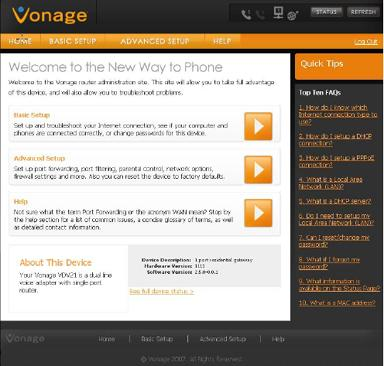 Accessing the Vonage V-Portal VDV21-VD and VDV22-VD or Vonage box.